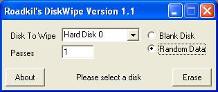 Roadkil's Disk Wipe