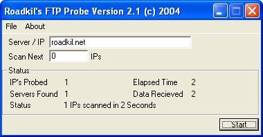 Roadkil's FTP Probe